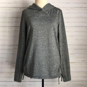 REEBOK hooded gray pullover